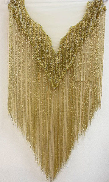 Beaded Cape # 10 Gold