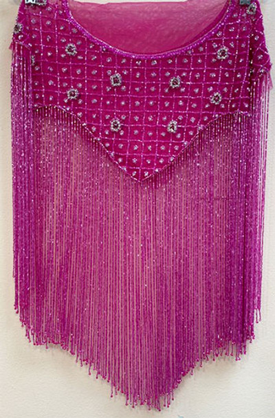 Beaded Cape # 12 Hot Pink