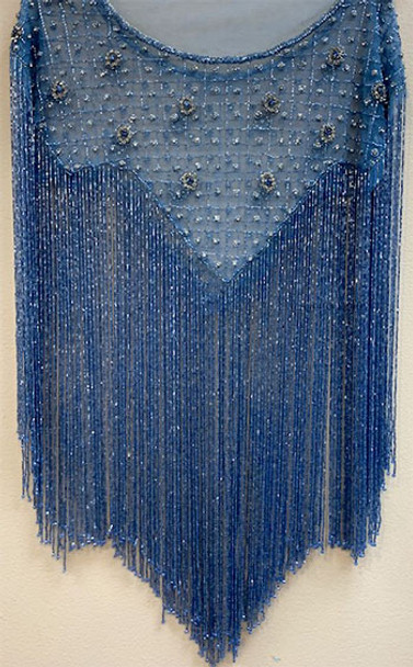 Beaded Cape # 13 Turquoise Blue
