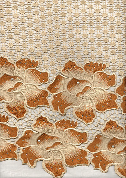 New Cord Lace 296 (Gold/Brown)