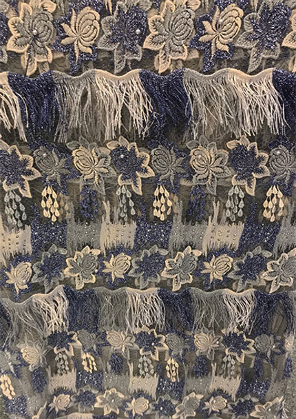 Lace #17 (Navy Blue) 4 yards