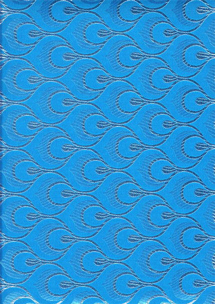 2pcs Sego Headtie # 13 (Turquoise Blue/Silver)