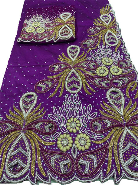 First Lady Wrapper 117 (Magenta) with Blouse Piece