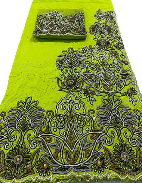 First Lady Wrapper 48 (Lime Green) with Blouse Piece