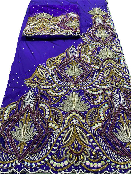 First Lady Wrapper 77 (Purple) with Blouse Piece