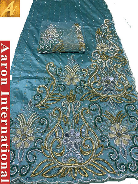 First Lady Wrapper 16 (Aqua) with Blouse Piece