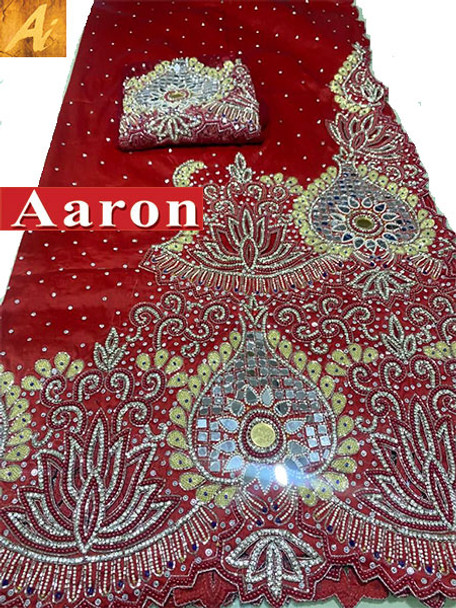First Lady Wrapper 1R (Dark Red) with Blouse Piece