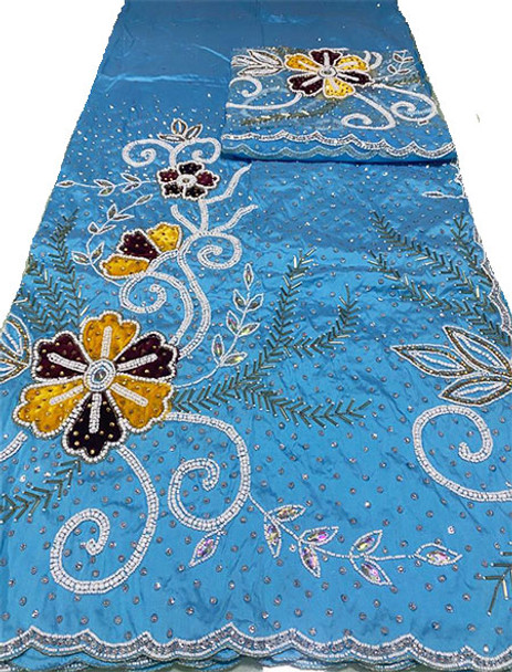 First Lady Wrapper 5 (Blue) with Blouse Piece