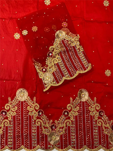 2pc Wrapper # 20 (Red) with  Blouse Piece