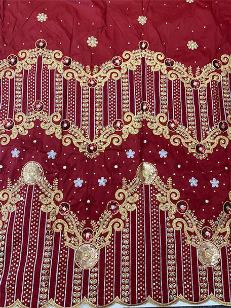 2pc Wrapper # 23 (Burgundy) with  Blouse Piece
