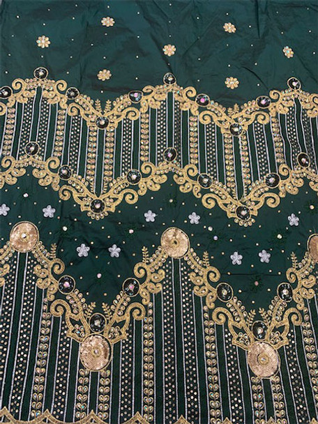 2pc Wrapper # 24 (Dark Green) with  Blouse Piece