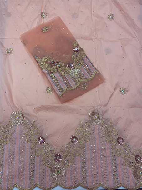 2pc Wrapper # 8 (Peach) with  Blouse Piece