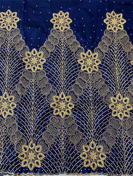 2pc Wrapper # 113 (Navy Blue) with  Blouse Piece