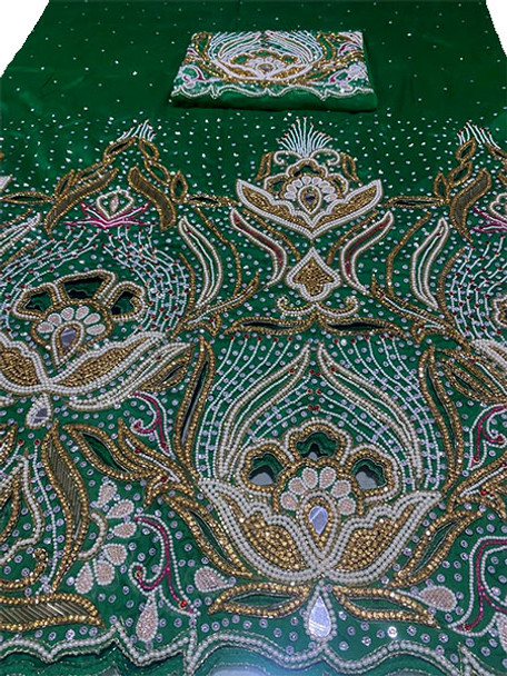First Lady Wrapper 10 (Green) with Blouse Piece