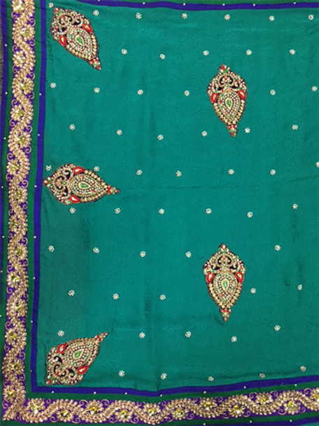 Saree George 53 (Green/Red)