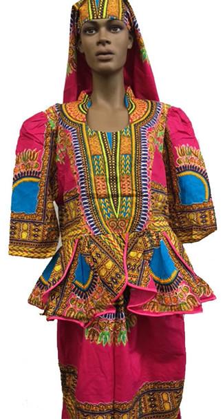 Skirt & Blouse #144 (Hot Pink)