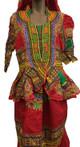 Skirt & Blouse #142 (Red)