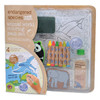 ES Animal World Large Coloring Bath Set with 1 pack free crayons