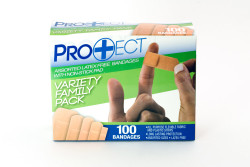 Pro+ect 100ct Assorted Latex Free Bandages