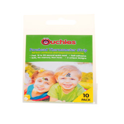 Ouchies Forehead Thermometer Strip 10ct - Turtle and Penguin