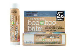 All Natural Boo + Boo Balm with Arnica. An all natural remedy that aids in the relief of symptoms of bruising and swelling from falls and overexertion. A portion of all Endangered Species by HSL sales help support non-profits that support endangered animals. .5 oz
