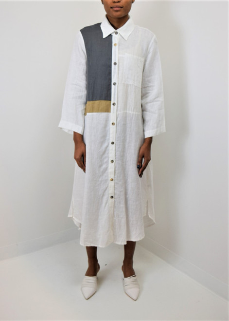 Button Up Linen Dress