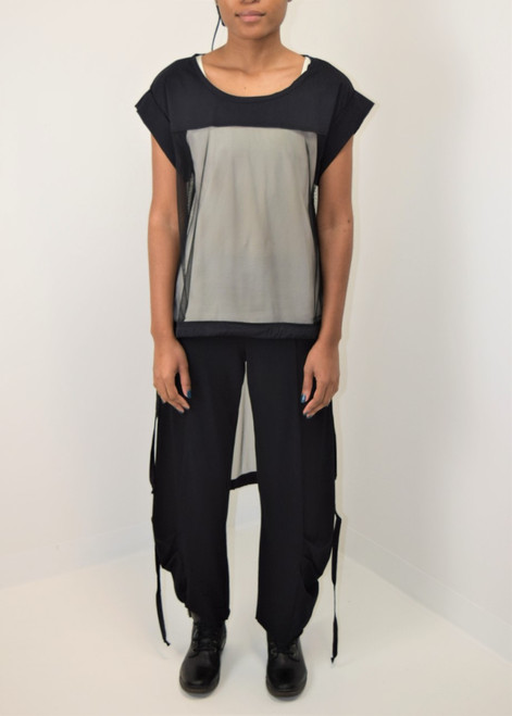 High Low Mesh Top