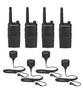 Motorola RMU2040 UHF Two Way Radio with Speaker Mics 4-Pack