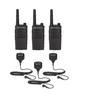 Motorola RMU2040 UHF Two Way Radio with Speaker Mics 3-Pack