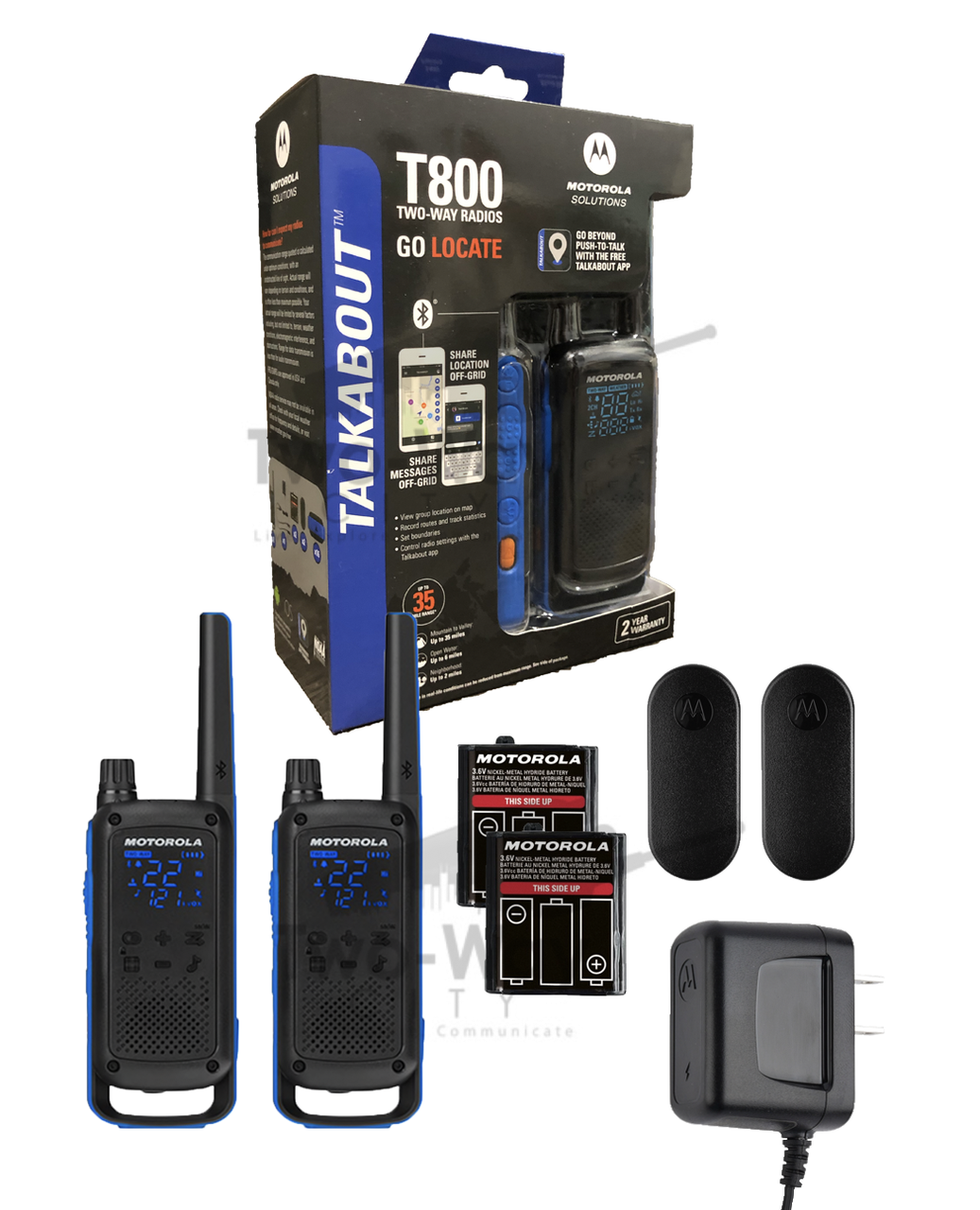 Motorola TALKABOUT T800 Two-Way Radio / Walkie Talkie