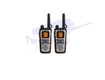 2 Pack Motorola MU350R Two Way Radios with Rechargeable Batteries