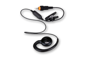 Motorola HKLN4437A CLP Series Single Pin Short Cord Earpiece