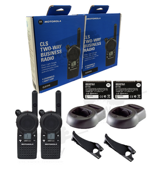 Motorola CLS1410 UHF Two Way Radio 2-Pack