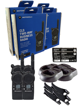 Motorola CLS1410 UHF Two Way Radio 4-Pack