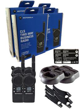Motorola CLS1410 UHF Two Way Radio 4-Pack