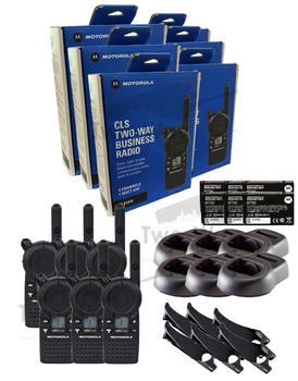 Motorola CLS1410 UHF Two Way Radio 6-Pack