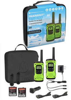 Motorola T605 Two-Way Radio 2-Pack with Accessories