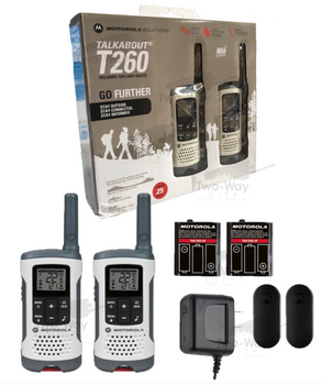 Motorola T260 Two Way Radio Two Pack