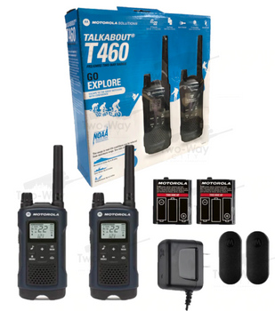 Motorola T460 Two-Way Radio Two Pack