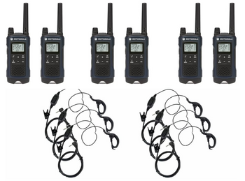 Motorola Talkabout T460 6-Pack with PTT Earpieces