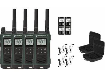 Motorola Talkabout T465 Two-Way Radios 4-Pack