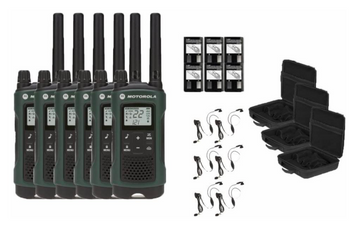 Motorola Talkabout T465 Two-Way Radios 6-Pack