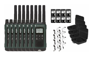 Motorola Talkabout T465 Two-Way Radios 8-Pack