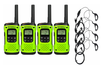 Motorola T600 Two-Way Radio 4-Pack with Earpieces