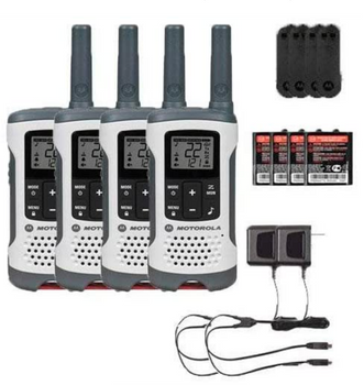 Motorola T260 Two Way Radio 4-Pack