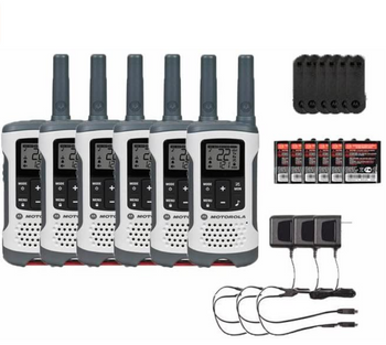 Motorola T260 Two Way Radio 6-Pack