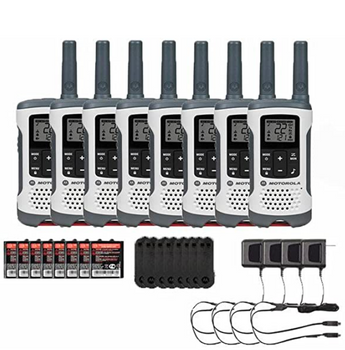 Motorola T260 Two Way Radio 8-Pack