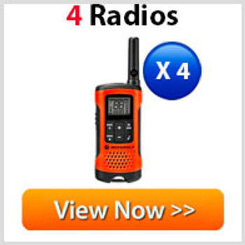 Motorola T265 Two Way Radio 4 Pack