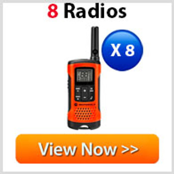 Motorola T265 Two Way Radio 8 Pack