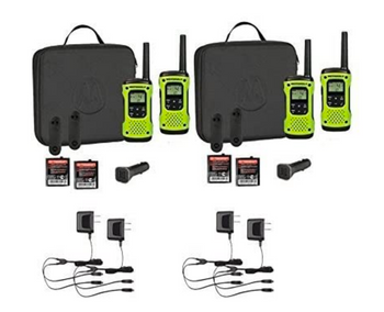 Motorola T605 Two-Way Radio 4-Pack with Accessories